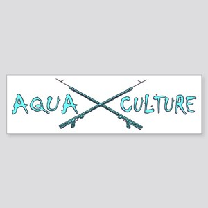 AQUA CULTURE SPEARGUNS aqua purpl Sticker (Bumper)
